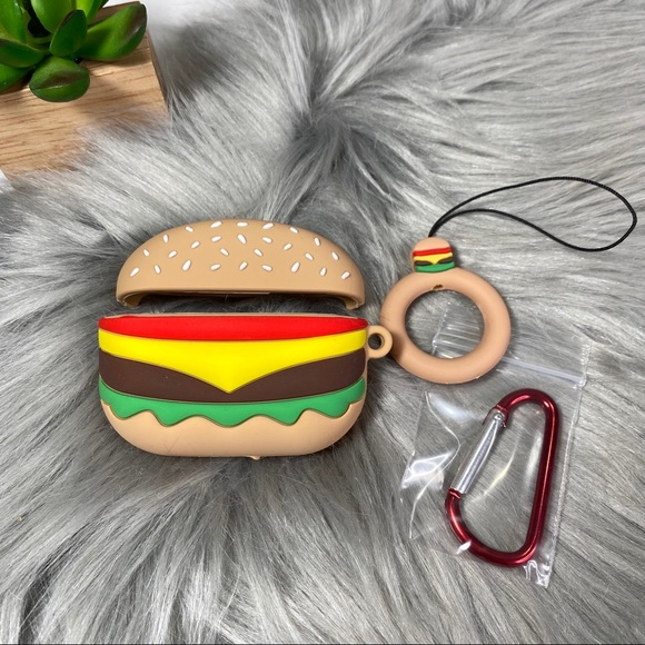Accessories - AirPods Pro Silicone Cartoon Skin Case - Hamburger